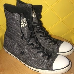 Sparkly Converse One Star Shoes